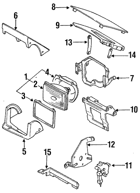 genuine oem headlamp components parts for 1987 mazda rx