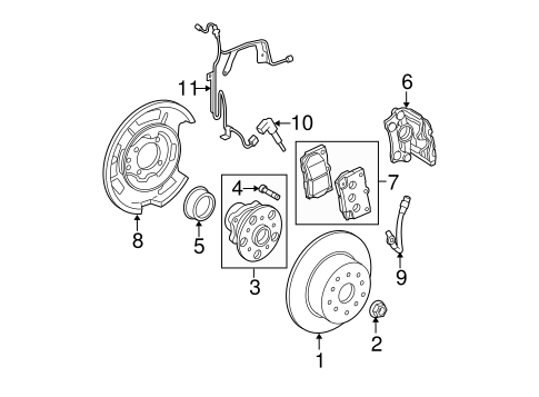 Brake Components for 2007 Lexus IS250 #0