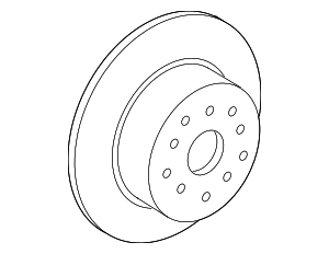 Disc Brake Rotor - Lexus (42431-30280)