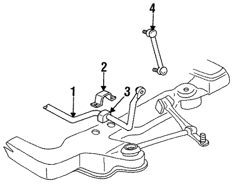 Stabilizer Bar Components For 1997 Chrysler Concorde