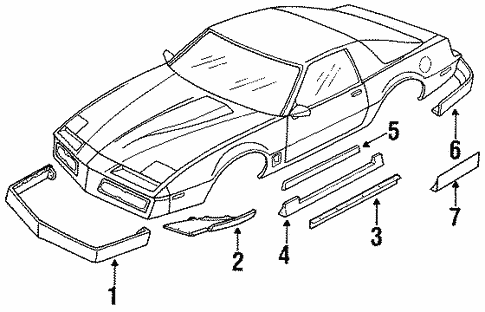 Ground Effects For 1989 Pontiac Firebird