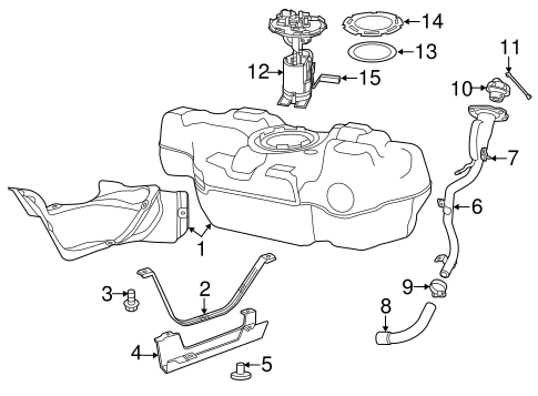 Fuel System Components For 2015 Fiat 500