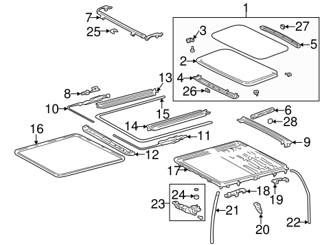 BODY/SUNROOF for 1997 Toyota RAV4 #2