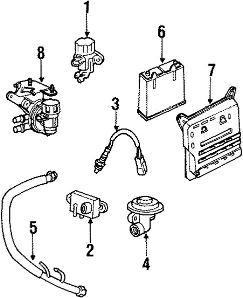 emission components for 1998 lincoln town car