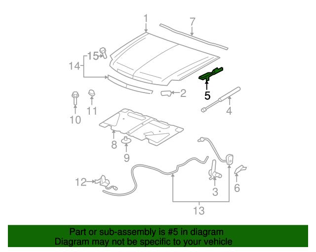 hinge assembly   gm 15942146