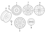 Wheel, Alloy - Nissan (40300-9KK0A)