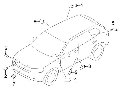 Labels For 2017 Volkswagen Touareg