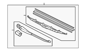Arm & Blade, Rear Windshield Wiper (350MM) - Honda (76740-S9V-A01)