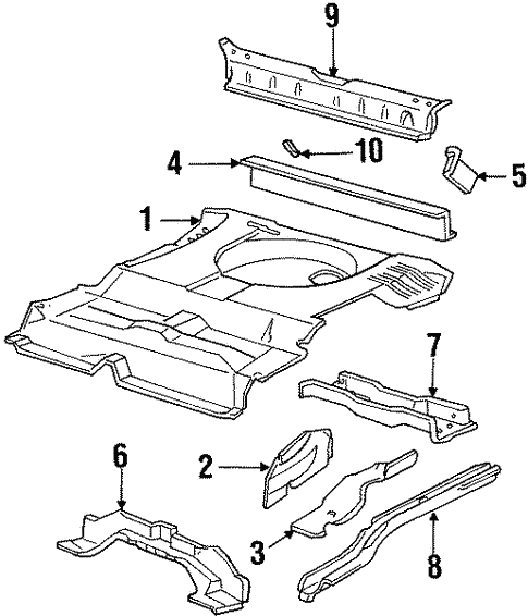 Rear Floor Rails For 1996 Ford Taurus