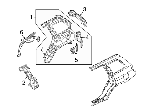 Inner Structure For 2006 Mitsubishi Outlander Ls