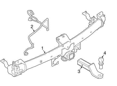 Trailer Hitch Components For 2016 Ford Police Interceptor Utility