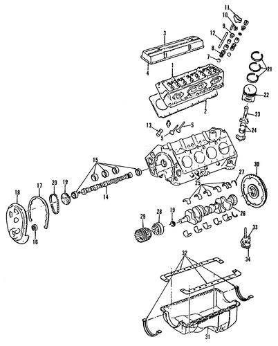 Rear Main Seal - GM (12554314)
