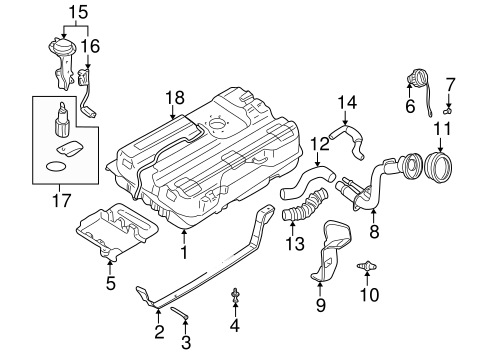 Fuel System Components For 1999 Nissan Quest