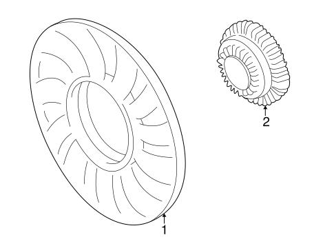 Cooling Fan For 1999 Volkswagen Passat