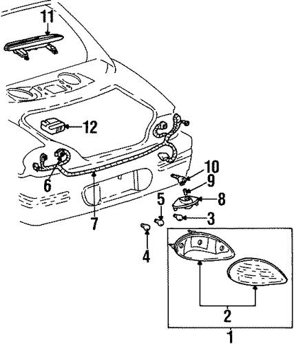 oem 2001 pontiac grand prix tail lamps parts