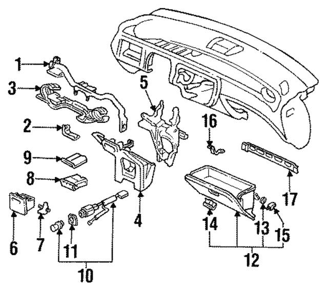 1984 2017 Honda Rubber Glove Box Stopper 66417 Sb3 670