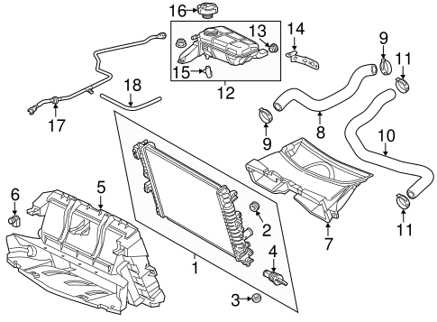Oem 2015 Chevrolet Corvette Radiator Components Parts