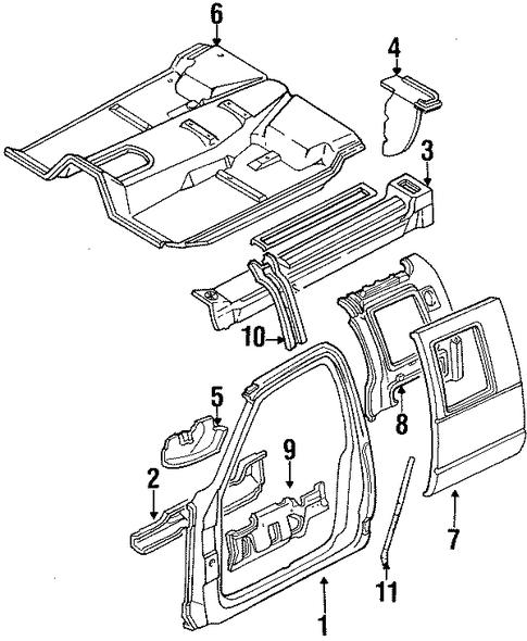 OEM 1994 Chevrolet K2500 Pickup Uniside Parts