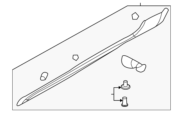NEW GENUINE Exterior Rocker Molding Grommet Clips OEM For Kia 8775927000 10