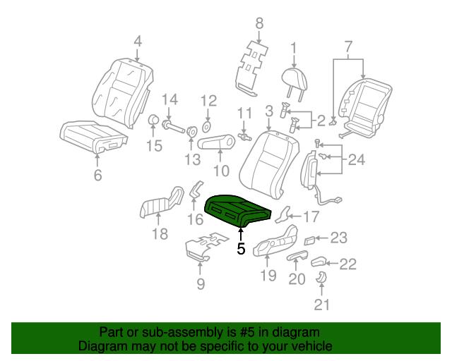 Honda Genuine 81537-SWA-A01 Seat Cushion Pad