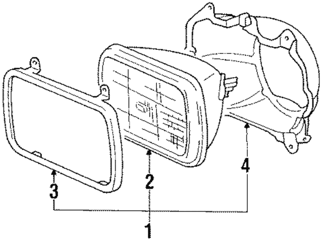 Mitsubishi Headlamp Assembly 8301b226