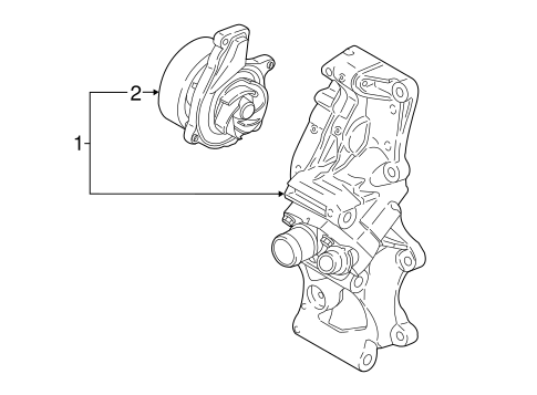 Water Pump For 2017 Bmw X1
