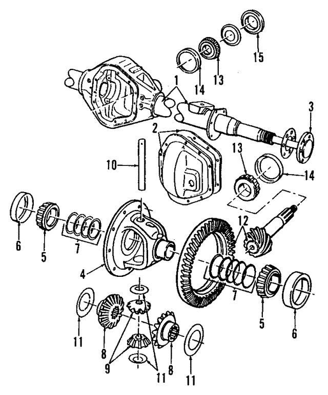 1994 2003 Dodge Differential Case 4746024ab