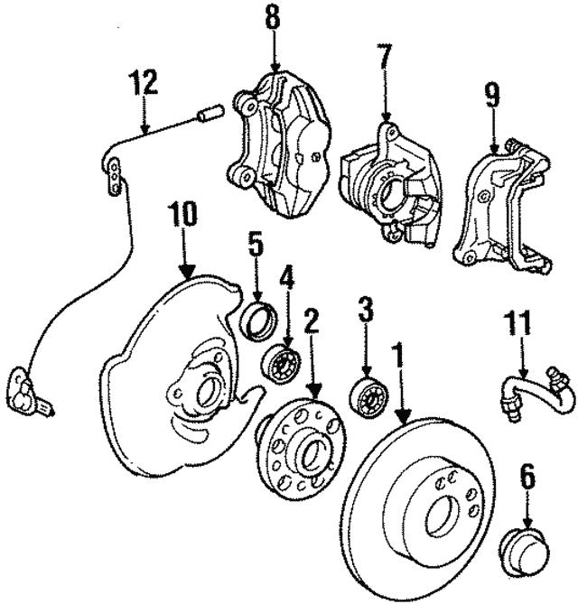 Disc Brake Caliper - Mercedes-Benz (001-420-18-83)