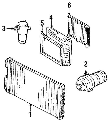 1993 Buick Park Avenue Suspension: OEM 1993 Buick Park Avenue Condenser, Compressor & Lines