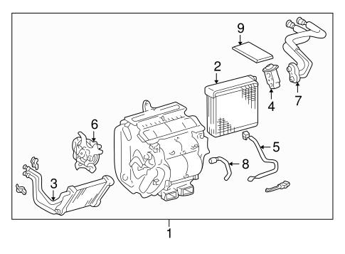 2000 Toyota Avalon Parts List