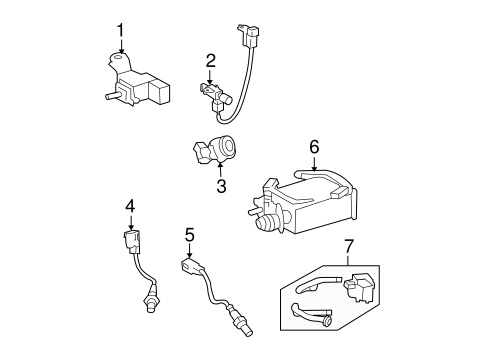 Emission Components for 2009 Toyota Tundra #1