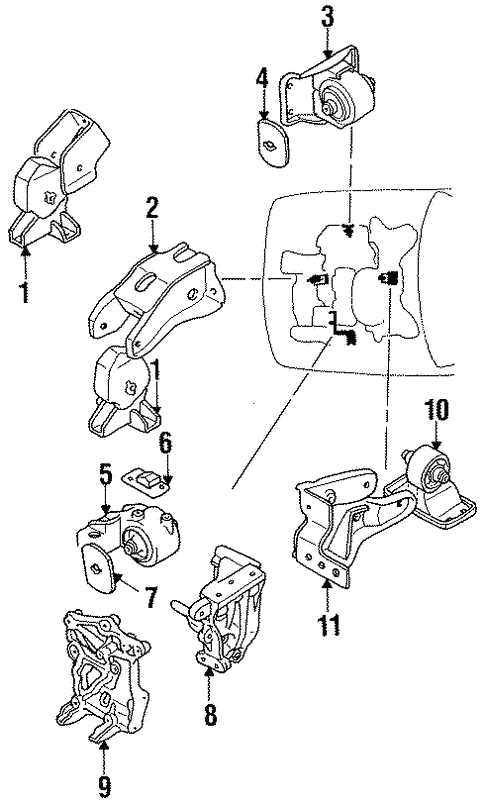 Engine Trans Mounting For 1996 Dodge Stealth