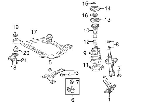FRONT SUSPENSION/SUSPENSION COMPONENTS for 2009 Toyota Sienna #1