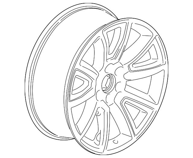 22 Wheel Silver Wchrome Inserts