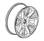 "22"" Wheel, 6-Spoke, Chrome"