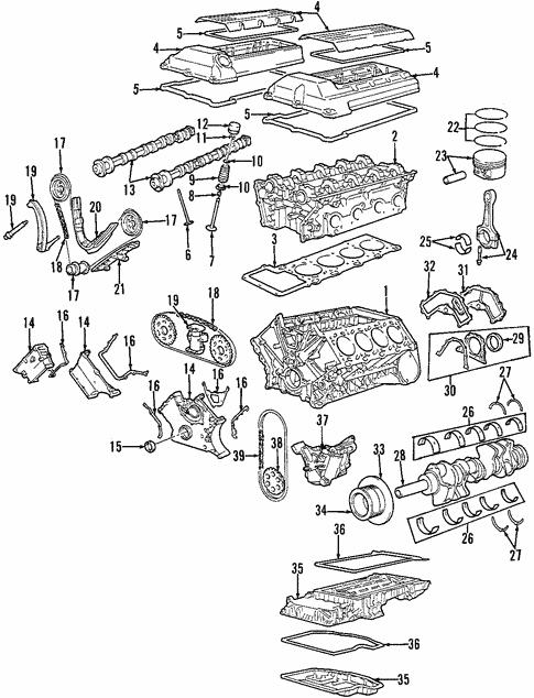 [TBQL_4184]  Engine for 1998 BMW 740iL   BMWPartsPros.com   1998 Bmw 740il Engine Diagram      BMW Parts Pros