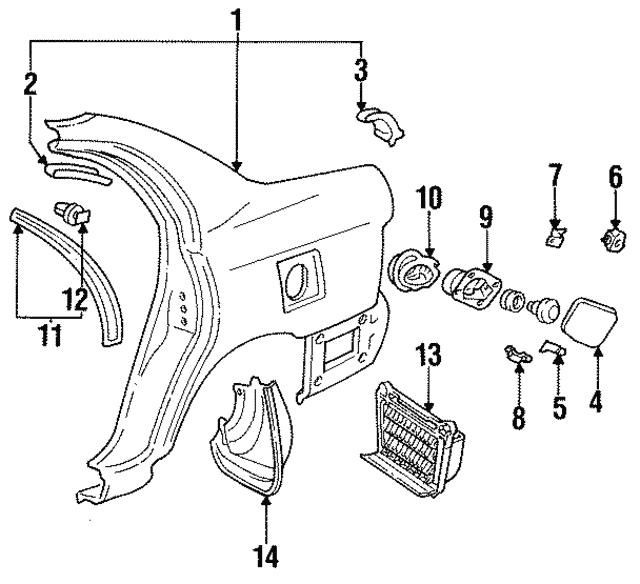 1990 2000 Toyota Lock Retainer 77377 20050