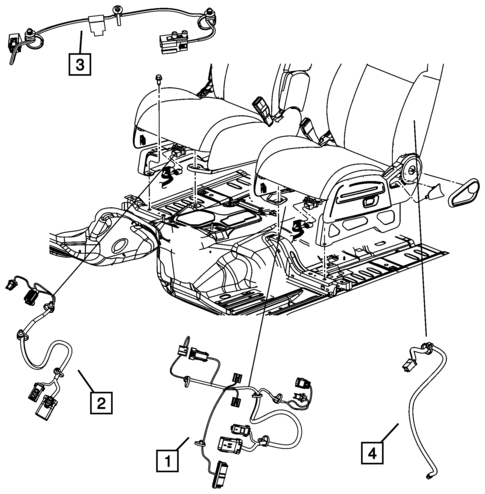Wiring Body And Accessories For 2009 Jeep Patriot