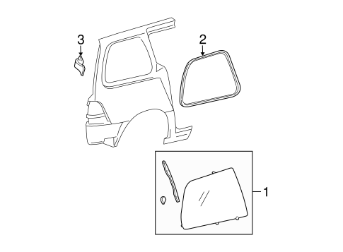Body/Glass - Side Panel for 2007 Ford Freestar #1