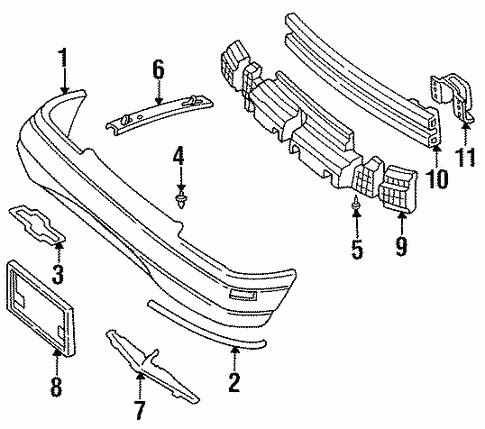 1998 Lumina Radiator Diagram