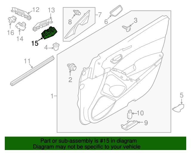 Window Switch - Mazda (GJS1-66-350C) | Quirk Parts