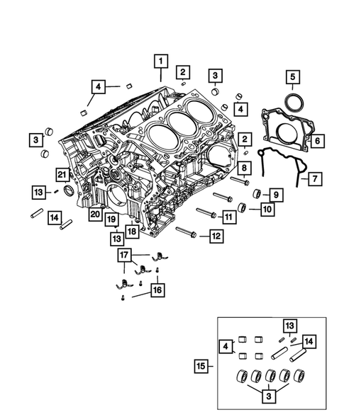 Cylinder Block for 2018 Jeep Grand Cherokee #1