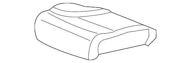 Rear Honda Genuine 82131-TR6-L21ZB Seat Cushion Trim Cover