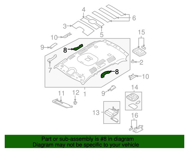 Genuine Hyundai 85340-2B050-J9 Roof Assist Handle Assembly