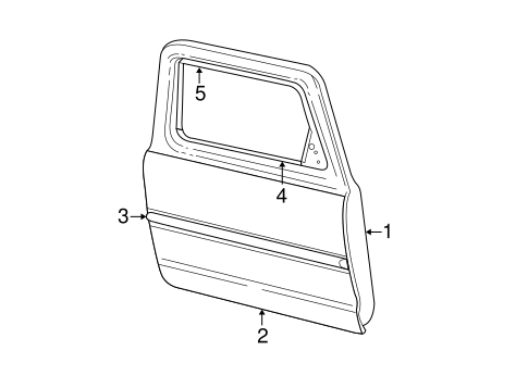 Body/Exterior Trim - Front Door for 2001 Ford Explorer #1