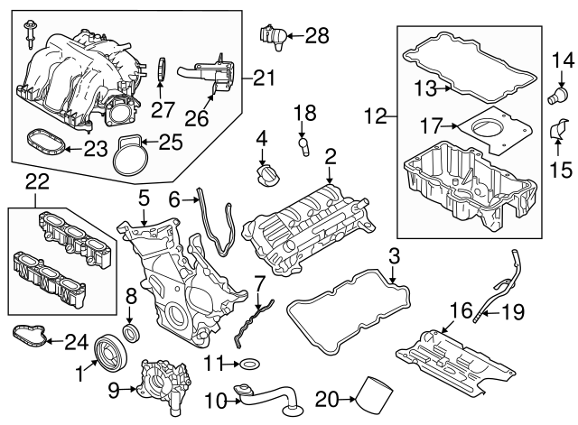 2006 2009 Ford Valve Cover Gasket 6e5z 6584 Aa