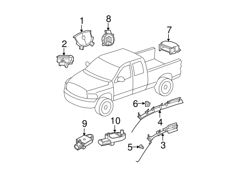 Air Bag Components For 2008 Dodge Ram 1500
