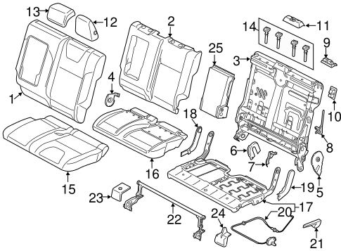 Body/Rear Seat Components for 2013 Ford Escape #1