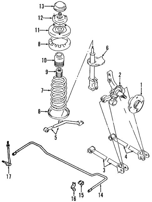 Rear Suspension For 2005 Suzuki Aerio