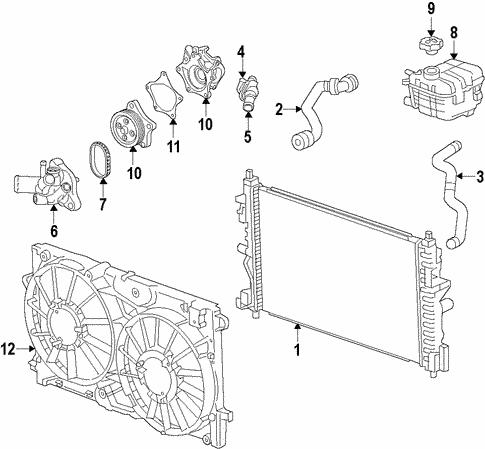 Oem Radiator Components For 2017 Chevrolet Volt Gmpartscenter